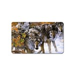 Wolf Family Love Animal Magnet (Name Card)