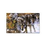 Wolf Family Love Animal Sticker Rectangular (10 pack)
