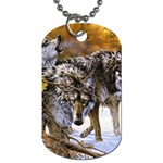 Wolf Family Love Animal Dog Tag (Two Sides)
