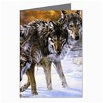 Wolf Family Love Animal Greeting Card