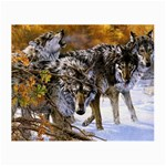 Wolf Family Love Animal Glasses Cloth (Small)