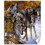 Wolf Family Love Animal Canvas 8  x 10