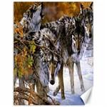 Wolf Family Love Animal Canvas 12  x 16