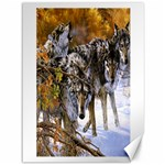 Wolf Family Love Animal Canvas 36  x 48