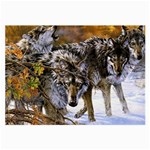 Wolf Family Love Animal Glasses Cloth (Large)