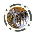 Wolf Family Love Animal Poker Chip Card Guard (10 pack)