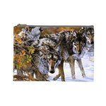 Wolf Family Love Animal Cosmetic Bag (Large)
