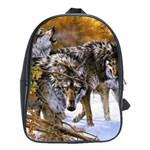 Wolf Family Love Animal School Bag (Large)