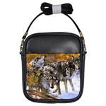 Wolf Family Love Animal Girls Sling Bag