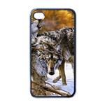 Wolf Family Love Animal Apple iPhone 4 Case (Black)