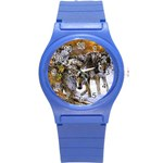 Wolf Family Love Animal Round Plastic Sport Watch Small