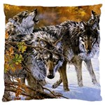Wolf Family Love Animal Large Cushion Case (One Side)