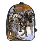 Wolf Family Love Animal School Bag (XL)