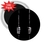 Being Behide The Bars Does Not Mean I Am Guilty 3  Magnet (100 pack)