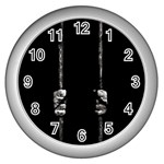 Being Behide The Bars Does Not Mean I Am Guilty Wall Clock (Silver)
