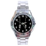 Being Behide The Bars Does Not Mean I Am Guilty Stainless Steel Analogue Men's Watch