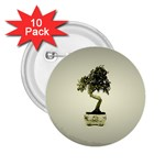 Beauty Of Peaceful Bonsai Tree 2.25  Button (10 pack)