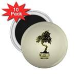 Beauty Of Peaceful Bonsai Tree 2.25  Magnet (10 pack)