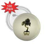 Beauty Of Peaceful Bonsai Tree 2.25  Button (100 pack)