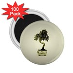 Beauty Of Peaceful Bonsai Tree 2.25  Magnet (100 pack)