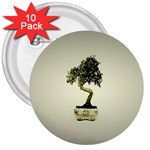 Beauty Of Peaceful Bonsai Tree 3  Button (10 pack)