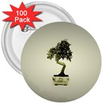 Beauty Of Peaceful Bonsai Tree 3  Button (100 pack)