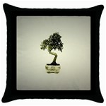 Beauty Of Peaceful Bonsai Tree Throw Pillow Case (Black)