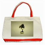 Beauty Of Peaceful Bonsai Tree Classic Tote Bag (Red)