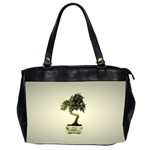 Beauty Of Peaceful Bonsai Tree Oversize Office Handbag (Two Sides)