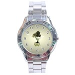 Beauty Of Peaceful Bonsai Tree Stainless Steel Analogue Men's Watch