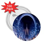 London Eye And  Ferris Wheel Christmas 2.25  Button (100 pack)