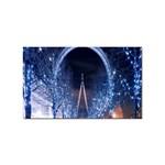 London Eye And  Ferris Wheel Christmas Sticker (Rectangular)