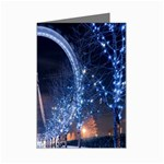 London Eye And  Ferris Wheel Christmas Mini Greeting Cards (Pkg of 8)