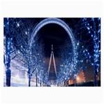 London Eye And  Ferris Wheel Christmas Glasses Cloth (Large)