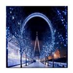 London Eye And  Ferris Wheel Christmas Face Towel