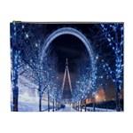 London Eye And  Ferris Wheel Christmas Cosmetic Bag (XL)