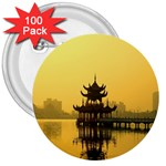 Lotus Lake Kaoshiung Taiwan 3  Button (100 pack)