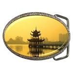 Lotus Lake Kaoshiung Taiwan Belt Buckle