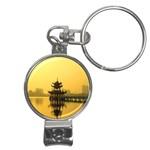 Lotus Lake Kaoshiung Taiwan Nail Clippers Key Chain