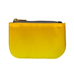 Chrome Yellow To Yellow Gradient Coin Change Purse by BestCustomGiftsForYou