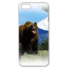 Angree Bear Apple Seamless iPhone 5 Case (Clear) from DesignYourOwnGift.com Front