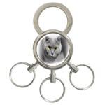 Animal Cat Golden Eyes 3-Ring Key Chain