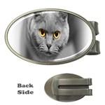 Animal Cat Golden Eyes Money Clip (Oval)
