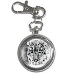 Animal Leopard In Snow Key Chain Watch