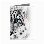 Animal Leopard In Snow Mini Greeting Cards (Pkg of 8)