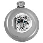 Animal Leopard In Snow Hip Flask (5 oz)