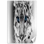 Animal Leopard In Snow Canvas 12  x 18
