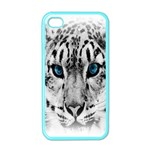 Animal Leopard In Snow Apple iPhone 4 Case (Color)