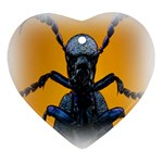 Animal Oil Beetle Heart Ornament (Two Sides)