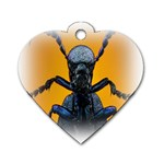 Animal Oil Beetle Dog Tag Heart (Two Sides)